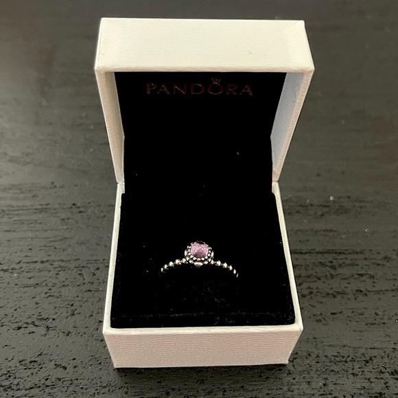 Pandora Jewelry - Genuine Pandora Purple Amethyst Birthstone Ring